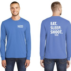 East. Sleep. Shoot. long sleeve shirt