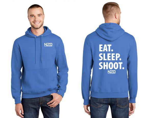 Eat sleep shoot hoodie