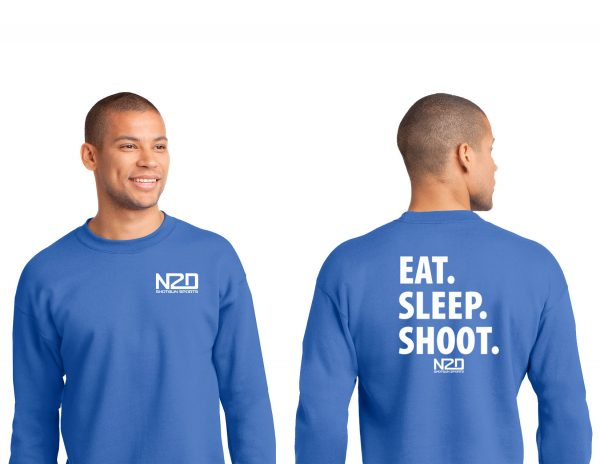 eat sleep shoot crewneck