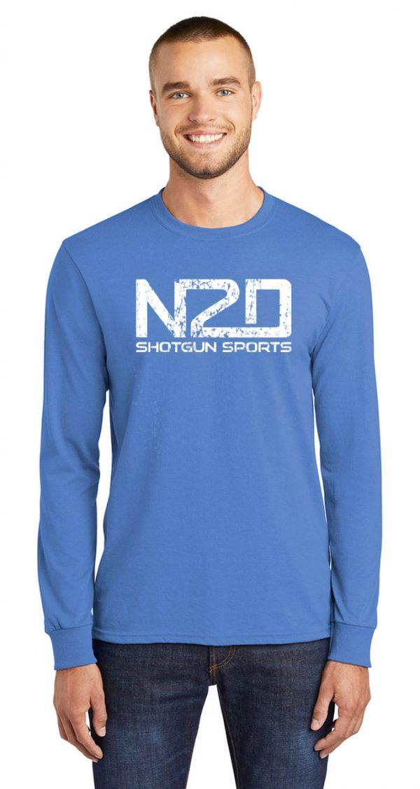 N2D distress long sleeve shirt