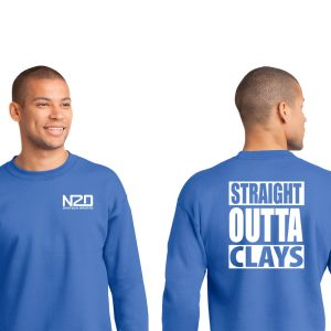 straight outta clays crewneck